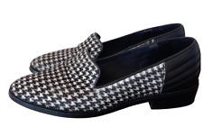 The Kooples houndstooth faux pony hair flats mules shoes Size 5