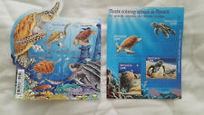 2 blocs timbres différents sur les tortues de mer. Neuf**