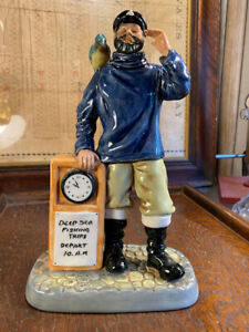 Vintage English Royal Doulton 'All Aboard' HN 2940 Sea Captain & Parrot figurine