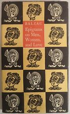 BALZAC Epigrams on Men Women and Love Peter Pauper 1959 le Clercq illus Harris