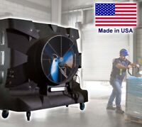 Portable Evaporative SWAMP COOLER - 28500 CFM - 6250 sqft - 230 V - 75 Gal Tank