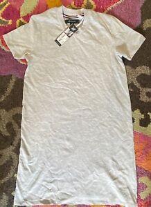 WOMENS T SHIRT DRESS - KANGOL SIZE 10 - BRAND NEW RRP £29.99 - GREY