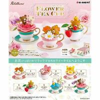 RE-MENT Rilakkuma Flower Tea Cup 6pcs Complete Set BOX w/ Tracking NEW