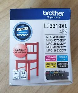 GENUINE Brother Lc 3319 Ink Cartridges 4 Colour Value Pack