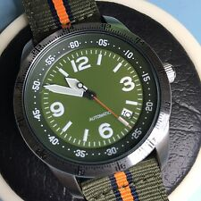 "Custom Mod Seiko 4R36-03G0 Military ""Big Numbers"" Hacks & Handwinds Display Back"