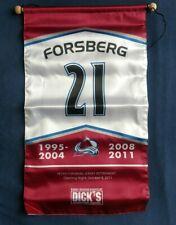 PETER FORSBERG Retirement Banner ** Colorado Avalanche * Foppa SGA * Sweden Avs