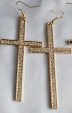 Pendientes de bisutería de aleación cristal color principal oro