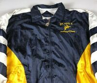 St Pius X Jacket VTG 90s Mens Large Swimming & Diving Golden Lions Windbreaker