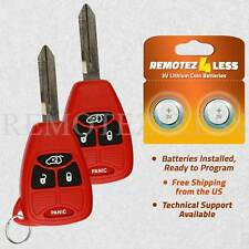 2 For 2005 2006 2007 Chrysler 300 Keyless Entry Remote Car Key Fob 4b Red
