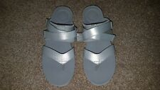 BNIB Fitflop Neoflex Toe-Thong sandals, UK 7 - Grey/Silver/White - FREE POST