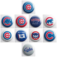 "CHICAGO CUBS – 1"" magnets OR pinback buttons – MLB baseball sports team logos"
