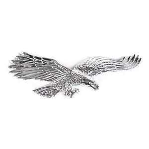 "Philadelphia Eagles Chrome Auto Car Emblem – (5"" x 2"") - NFL Decal Badge"