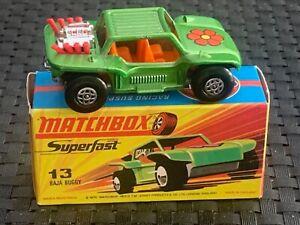 Matchbox/Lesney Superfast #13 BAJA BUGGY Lime Green NEW w/Original Box 1971