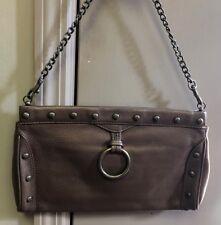 HOBO INTERNATIONAL Bronze chain shoulder evening bag.