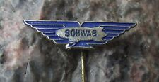 1960s Schwab Airship Luftschiff Balloon Zeppelin Aviation Advertising Pin Badge