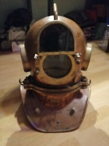 Vintage Maritime Russian 3 Bolt Deep Sea Diving Helmet Original + welding mask