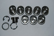 "Motorcycle floating front brake disc Bobbins & Eclip sets ""Blackshadow-Uk"""
