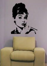 Audrey Hepburn  - Walltattoo - Wandtattoo - ca. 70 x 58 cm
