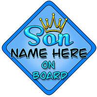 Static Cling Window Car Sign//Decal Daddys Boys on Board 3 boys 100 x 250mm