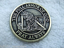 Armor of God Coin 1 1/2 inch  no web site $3.99 each