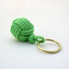 Mystic Knotwork: Lime Green Nautical Monkey Fist Key Chain