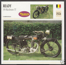 1924 Ready 350cc Blackburne TT (339cc) Belgium Bike Motorcycle Photo Spec Card