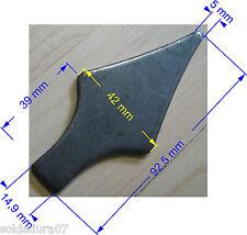 Punta de Lanza de Acero 3 mm espesor para soldar en cierres Soldadura Decorativa