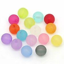 Mixed Frosed Acrylic Round Spacer Beads 10mm 190 Pack (1.5mm Hole)