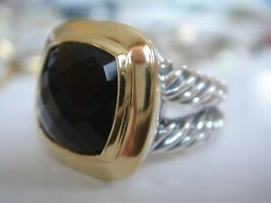 DAVID YURMAN 18K GOLD SS BLACK ONYX  RING