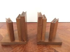 Vintage Pair Of Wooden Bookends