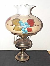 GONE WITH THE WIND VINTAGE 3-WAY HUGE SHADED ELECTRIC OIL BURNER HURRICANE LAMP