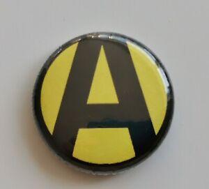25mm Pin Badge - ALTERN8 Old Skool Rave Mask Tribute Techno Altern-8 Nexus-21