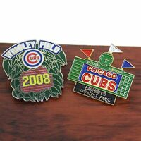Chicago Cubs Wrigley Field Hat Pin Tie Tac Baseball Stadium Lot Of 2