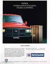 PUBLICITE ADVERTISING 0105  1991  Le NISSAN PATROL