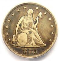 1875-CC Twenty Cent Coin 20C (Carson City) - Certified ICG F12 - $360 Value!