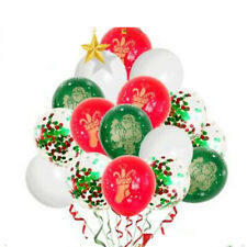 Merry Christmas Santa Balloons Party Decorations Xmas Red Green Festive Snow