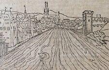 Sébastien MUNSTER Vienne sur le Rhône Gravure sur bois Réimpression XVIIe
