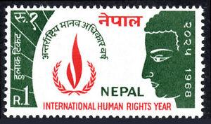 Nepal 214, MNH. Intl. Human Right Year. Buddha, 1968