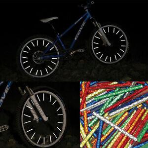 12pack Bicycle Spoke Light Reflectors Bike Wheel Clip On Tube Cycling Reflective
