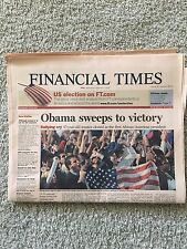 "Finanical Times Newspaper ""Obama Sweeps To Victory"" November 5, 2008"