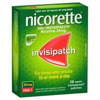 Nicorette 16hr Invisipatch Patches Step 1 25mg 28 Pack Nicotine QUIT SMOKING