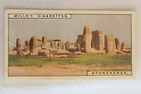 Stonehenge Wonders Of The Past 1926 Wills Cigarette Card (B14)