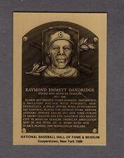 RAY DANDRIDGE, Negro League Official Hall of Fame METALLIC plaque-card (1/1,000)