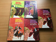 TRIXIE BELDEN BY JULIE CAMPBELL. Lot of 5 Hardcover books. 1970.