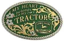 Montana Silversmiths My Heart Belongs to My Tractor Attitude Belt Buckle