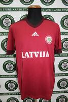 Maglia calcio LETTONIA LATVIA TG M shirt trikot maillot jersey camiseta