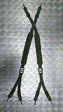 Genuine Military Issue Green Web Yoke / Suspender / Brace 6 Point Strap - NEW