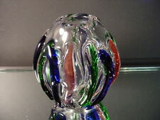 Scarce Murano Glass Paperweight Vase w/Applied FreeForm Designs Italy Eames Era