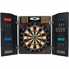 Electronic Dart Board Dartboard Cabinet Game Set Darts Soft Steel Tip 38 Games
