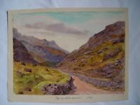 Landscape Yop of Llamberris Watercolour Inglesa. Dated in 1884